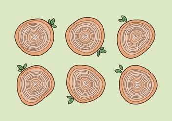 Free Tree Rings Vector Illustration #20 - Kostenloses vector #342663