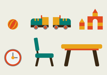 Free Kids Room Vector Icons #10 - Free vector #342773