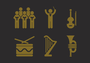 Vector Choir Icon Set - Free vector #342783
