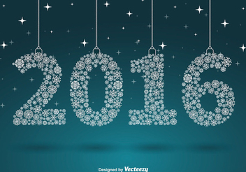 Snowflakes 2016 New Year Background - vector gratuit #342803