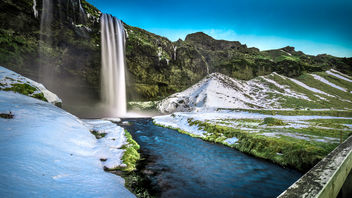 Seljalandsfoss Waterfall - Iceland - Travel photography - Kostenloses image #342813