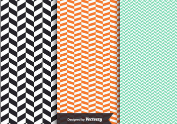 Free Vector Herringbone Patterns - Kostenloses vector #342963