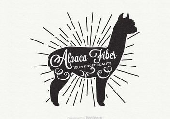 Free Alpaca Retro Vector Label - Kostenloses vector #342973