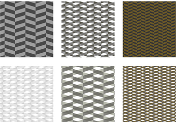 Herringbone Pattern Black Vector - бесплатный vector #343053
