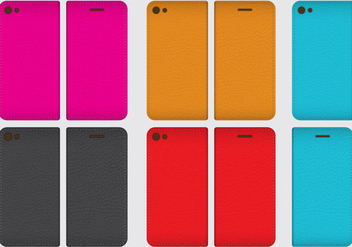 Leather Phone Cases - Kostenloses vector #343083