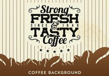 Free Coffee Background with Typography - vector gratuit #343123