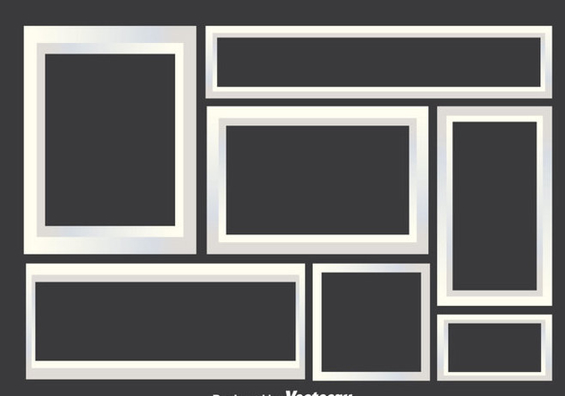 White Photo Collage Frames Free Vector Download 343143   CannyPic