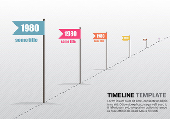 Free Retro Timeline Template Vector - Free vector #343163