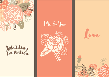Vector Carnation Wedding Templates - бесплатный vector #343213