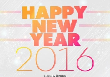 Colorful Typography New Year Background - vector gratuit #343273
