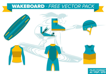 Wakeboard Free Vector Pack - бесплатный vector #343303