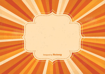 Blank Retro Sunburst Background Illustration - Free vector #343343