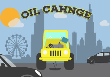 Oil Change Vector - Free vector #343373