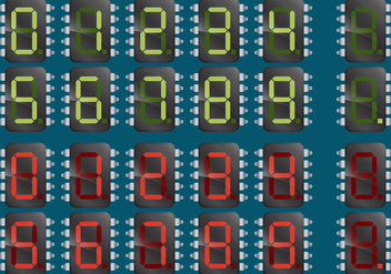 Numerical Microchips - Free vector #343383