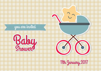 Baby Shower Invitation Vector Illustration EPS10 - бесплатный vector #343413
