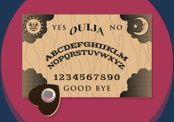 Ouija Illustration Vectorial - vector gratuit #343643