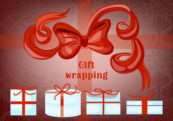 Free Gift Boxes with Bows and Ribbons Vector - Kostenloses vector #343753