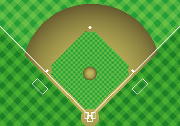 Free Baseball Arial View Vector - Kostenloses vector #343763