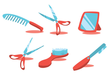Barber Tools Vector Set - Free vector #344293