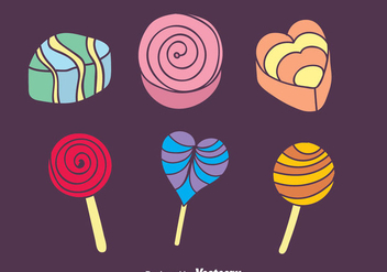 Colorful Candy And Cake Icons - бесплатный vector #344303