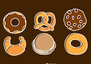 Bakery And Pastry Icons - Free vector #344313