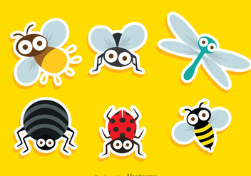 Insect Cute Sticker - vector gratuit #344333