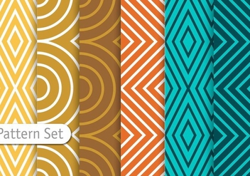 Colorful Line Geometric Pattern Set - Kostenloses vector #344343