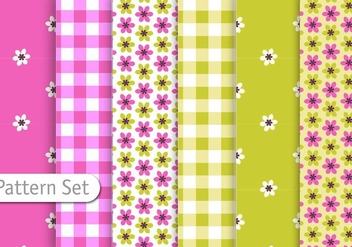 Cutre Retro Pattern set - бесплатный vector #344353