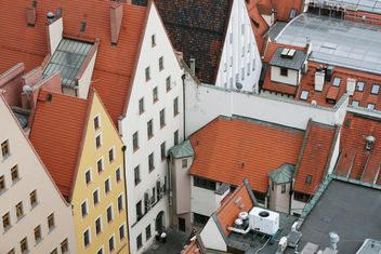 View on roofs of houses in Wroclaw, Poland - Kostenloses image #344523