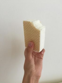 Sandwich ice cream in hand - Free image #344543