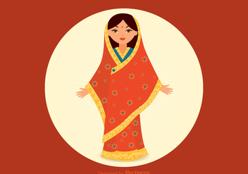 Free Indian Girl Vector - Free vector #344653