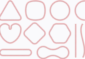 Baseball Lace Shapes - Kostenloses vector #344673