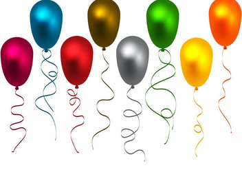 Free Colorful Balloons Vector - Free vector #344723