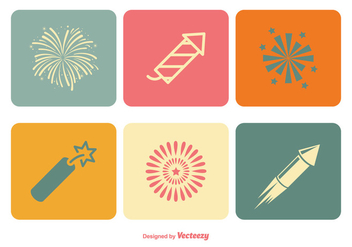 Fireworks Icon Set - vector gratuit #344803