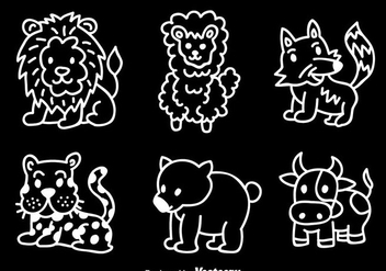Animal Hand Draw Vector Set - Free vector #344883