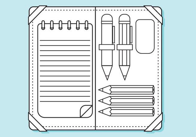 Descargar Vector Caja De Lápiz Plano Líneas Página Para Colorear ...