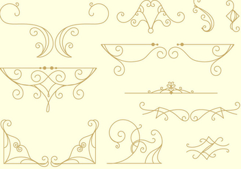 Decorative Arabesco Lines - Free vector #345133