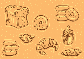 Bakery Illustrations - бесплатный vector #345243