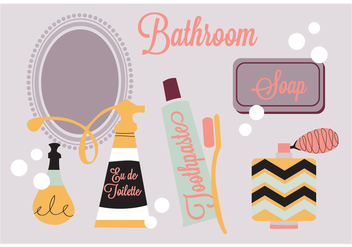 Free Bathroom Elements Vector Background - Free vector #345253