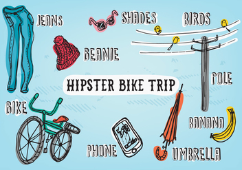 Free Hipster Adventure Vector Background - vector #345273 gratis