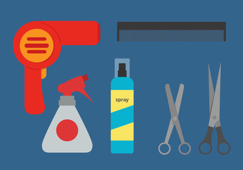 Barber Tools Vector - vector #345333 gratis