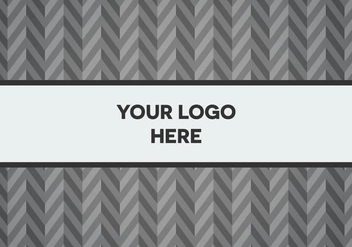 Free Gray Herringbone Logo Background - Kostenloses vector #345353