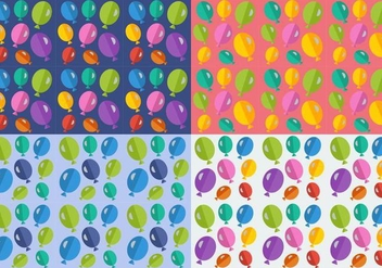 Free Balloons Seamless Patterns - бесплатный vector #345363