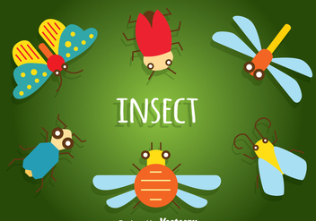 Insect Flat Icons - vector gratuit #345393
