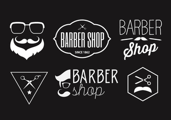 Vector Collection of Barber Badges - vector gratuit #345443