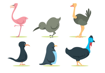 Bird Nature Vector Set - Free vector #345503