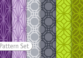 Orient Geometric Pattern Set - Free vector #345563