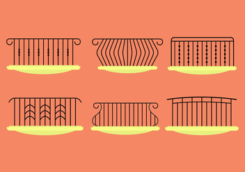 Balcony Rails - vector gratuit #345593