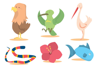 Bird Nature Vector Set - Kostenloses vector #345643