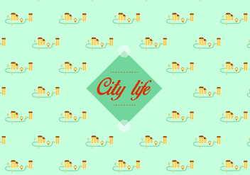 City pattern background - Free vector #345663